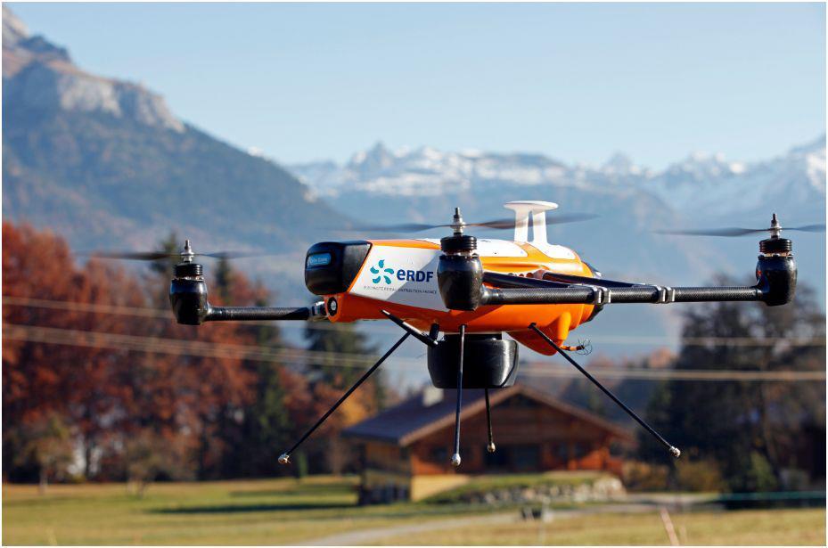ERDF drone linhas eletricas