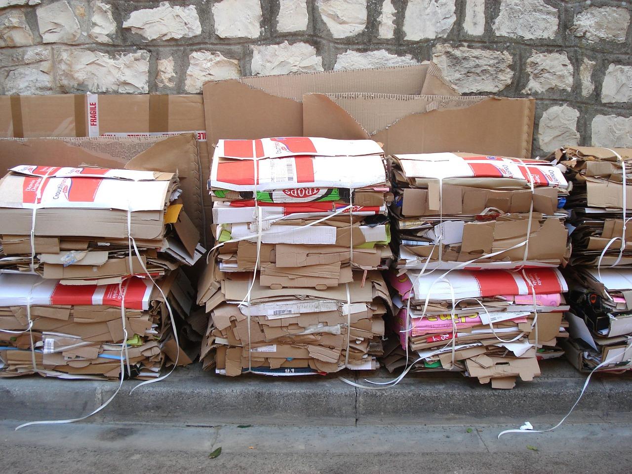 papel cartão reciclagem resíduos reciclar
