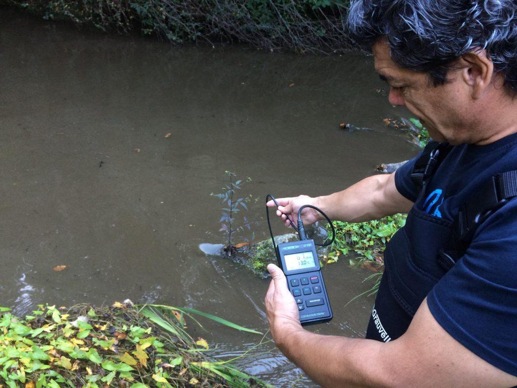 Determinação in situ de parâmetros físico-químicos da água