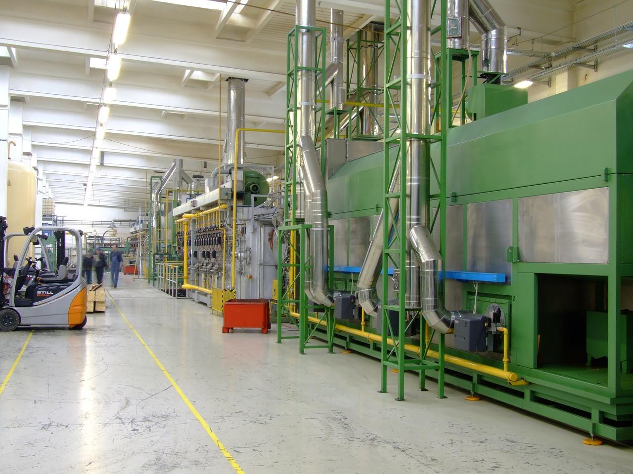 indústria linha de produção eficiência energética energia