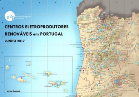 mapa de parques eólicos em portugal APREN e INEGI lançam nova versão do mapa E2P 'Centros  mapa de parques eólicos em portugal